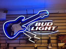 bud light lighted sign bud light neon sign w guitar for sale 732 228 7089 cash now