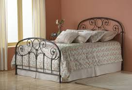 grafton bed heavy tubing metal bed in rusty gold fashion bed group