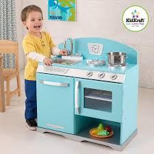 cuisine pour enfants cuisine pour enfant en bois bleu rétro achat vente dinette