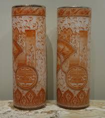 Francois Vase A Pair Of François Théodore Legras Antique Glass Vases Circa 1900