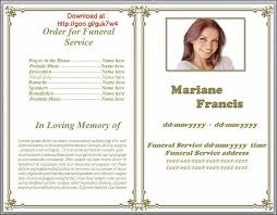funeral obituary templates 79 best funeral program templates for ms word to images