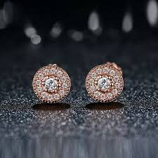 stud earrings for women pave gold stud earrings with lab created diamonds surewaydm