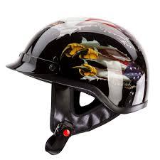 motorcycle accessories amazon com iv2 usa eagle chopper cruiser beanie half helmet