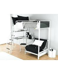 White High Sleeper Bed Frame High Bed With Desk High Sleeper With Desk And Futon Uk