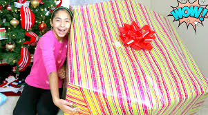 opening a giant christmas present what i got for christmas