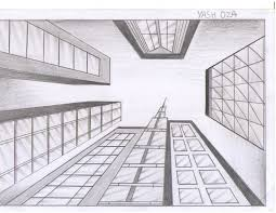 one point perspective drawing buildings great drawing