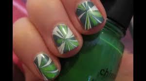 water marbling nail art tutorial on short nails youtube