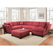Sectional Sofa With Recliner And Chaise Lounge Manhattan Sectional Sofa Loveseat U0026 Rsf Chaise Red 52a5r