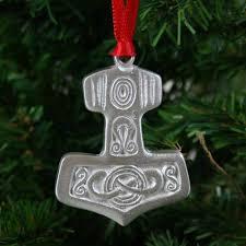 scandinavianshoppe thor s hammer ornament pewter po 12