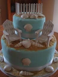 Kitchen Tea Cake Ideas by Beach Themed Bridal Shower Cake Cakecentral Com