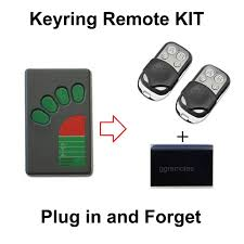 programmable garage door remote garage door remote control kit fits on ata green button tx 4a tx4