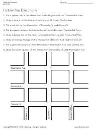 follow the directions map grid worksheet 1