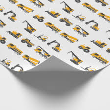 themed wrapping paper construction wrapping paper zazzle