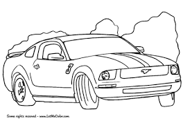 ford mustang coloring free printable coloring pages