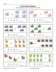addition worksheets 1 10 worksheets
