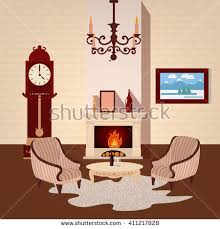 Home Interior Vector by Family Flat Interior Room Stock Photos Royalty Free Images