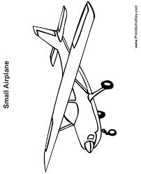 small plane coloring airplanes preschool