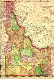 map of idaho cities the usgenweb archives digital map library idaho maps index