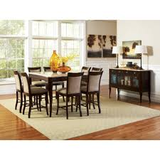 dining tables 9 piece counter height dining set with lazy susan