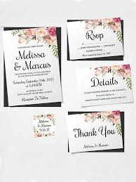 wedding invitations packages 16 printable wedding invitation templates you can diy