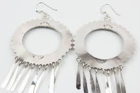 turquoise drop earrings zuni needlepoint turquoise drop earrings by milburn dishta