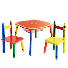 crayola table and chairs crayola kids table chairs set 3pc kids furniture b m