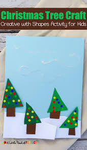 easy winter scene christmas tree shape craft for kids
