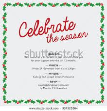 christmas party invitation holy border celebrate stock vector
