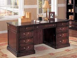 desk office depot antique wood desks for home office with drawers and brass handle