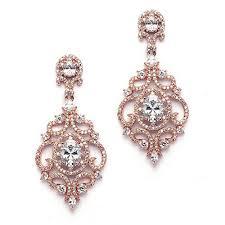 Rose Gold Chandelier Earrings Rose Gold Drop Earrings Amazon Com