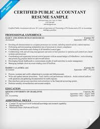 Sample Resume With Certifications by Certified Public Accountant Resume Sample Resume Samples Across