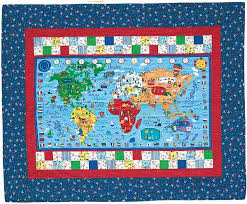 map quilt it s a kid s reversible map and city block quilt for