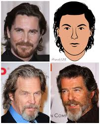 bale needs a hair cut men s natural swept back long hairstyle guide to face shapes