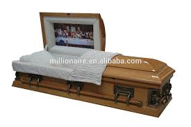 wood caskets the last supper coffin wood casket with pieta in the corners buy