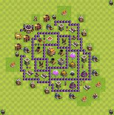 layout design th7 clash of clans best plans layouts plan town hall level 7 th 7