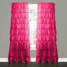 Ruffled Pink Curtains Pink Ruffle Curtains Fantastic Pink Ruffle Blackout Curtains