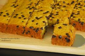 pumpkin chocolate chip bars baker street