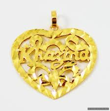 name chains gold necklace images 22ct indian gold hand made heart name pendant 324 14 pendants JPG