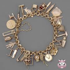 charm bracelet gold vintage images Vintage bracelets bangles vintage rose gold charm bracelet jpg