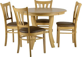 Dining Table For 4 Oak Round Dining Table Set For 4 Eva Furniture