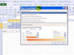 Lottery Syndicate Spreadsheet Highlight Winning Lottery Numbers With Excel Conditional