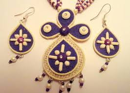 jute earrings jute jewellery cuff bracelets sector 8 noida kumpras exports