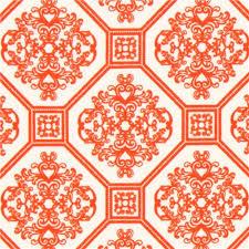 robert kaufman ornament knit fabric tangerine orange knit fabric