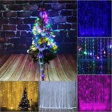Battery Operated Christmas String Lights by 110v 220v 3 2m 224pcs Colorful Curtain Led Icicle String Lights