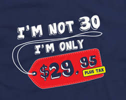 30th birthday shirt gift ideas for thirty year