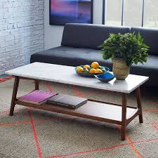 rectangular marble coffee table reeve mid century rectangular coffee table west elm