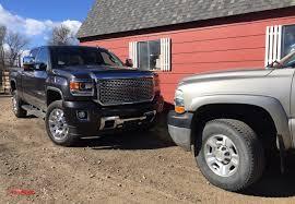 old vs new diesels 2016 gmc sierra hd vs 2002 chevy silverado