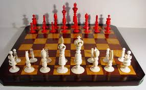 Staunton Chess Pieces by A Mid 19th Century English Carved And Turned Ivory Chess Set In