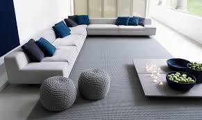 grand canapé d angle tissu canapé d angle modulable contemporain en tissu allnew by