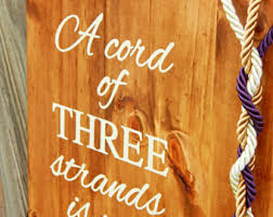 3 cords wedding ceremony a cord of three strands weddings decorations a cord of